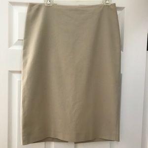 Ellen Tracy Bone Pencil Skirt